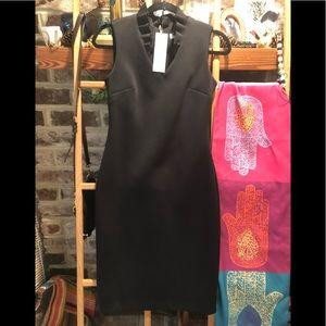 Calvin Klein Bodycon Zipback LBD Scuba Dress